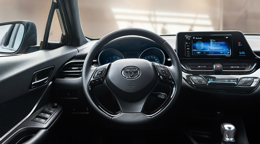 instrument cluster in the 2018 Toyota C-HR
