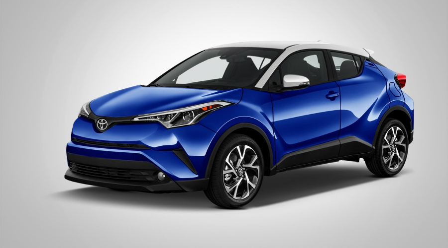 blue and white 2018 Toyota C-HR