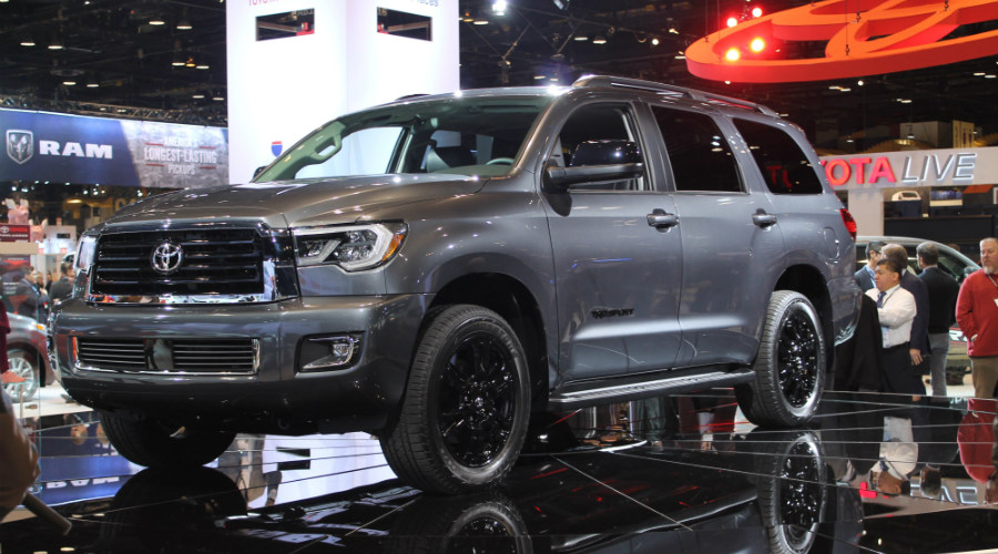front left view of the 2018 Sequoia TRD Sport
