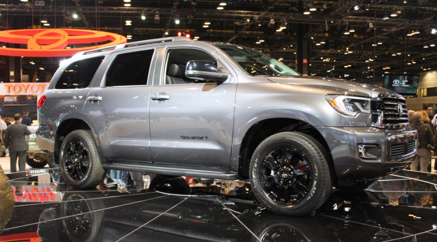 front right view of the 2018 Toyota Sequoia TRD Sport