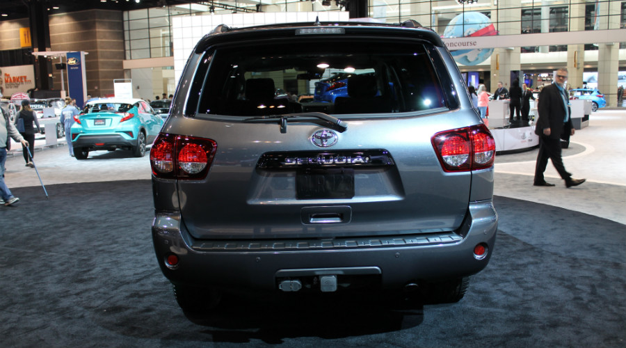 back of the 2018 Toyota Sequoia TRD Sport