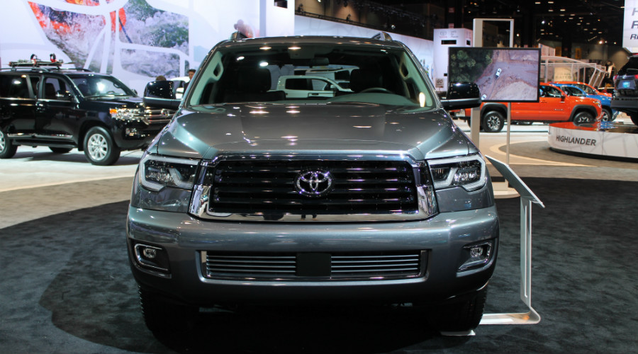 front of the 2018 Toyota Sequoia TRD Sport