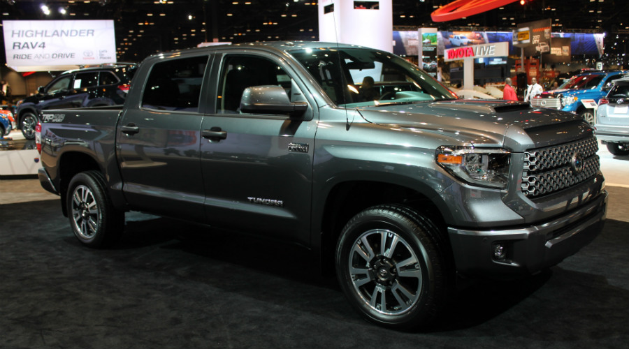 front right view of the 2018 Toyota Tundra TRD Sport