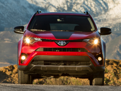front view of the 2018 Toyota RAV4 Adventure