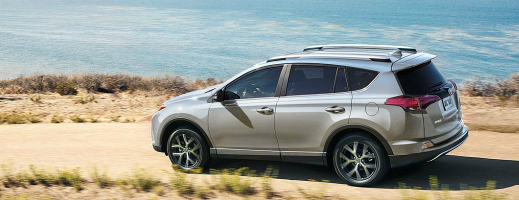 2018 Toyota RAV4 driving on the beach