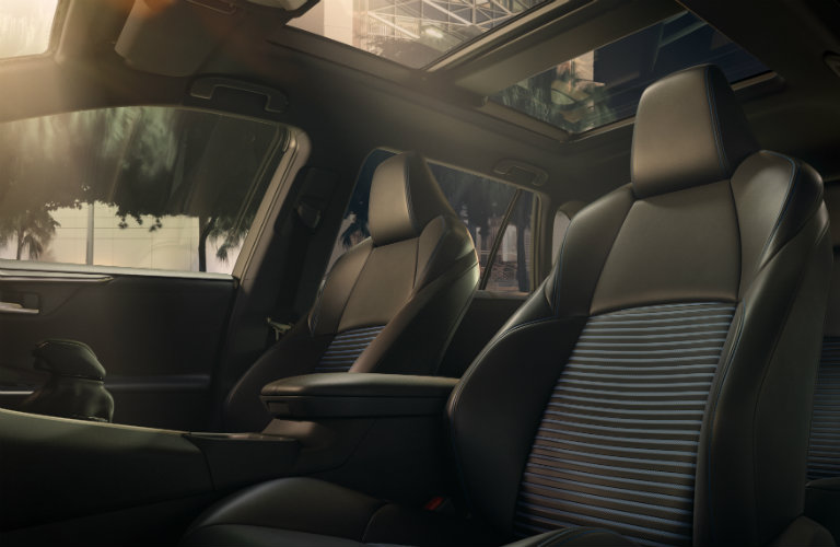 Front seats of the 2019 Toyota RAV4