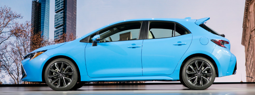 2019 Toyota Corolla hatchback from the side