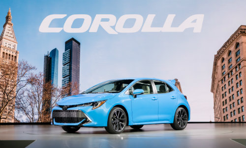 2019 Toyota Corolla hatchback at the 2018 NY Auto Show