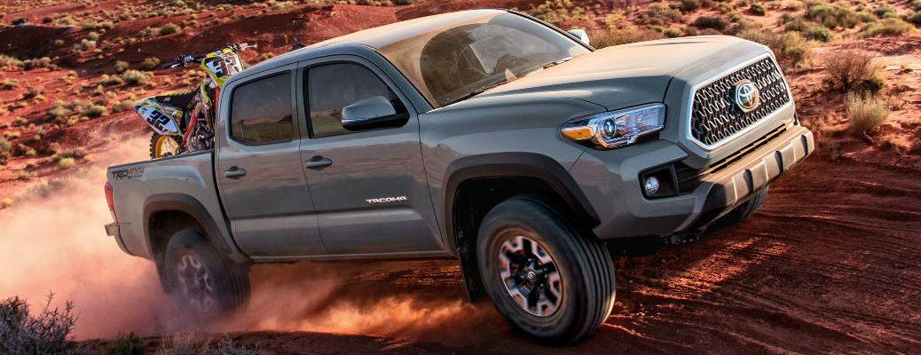 2018 Toyota Tacoma in the desert