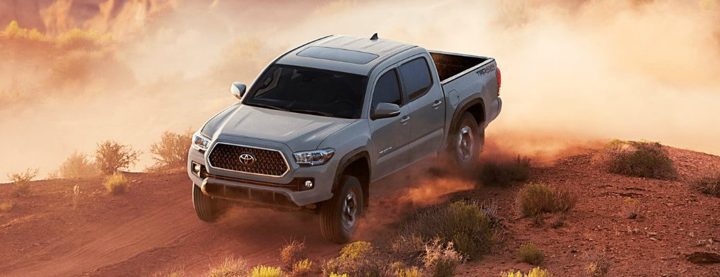 2018 Toyota Tacoma driving through the desert