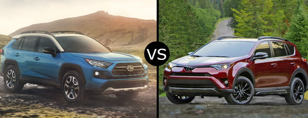 2019 vs. 2018 Toyota RAV4 Adventure