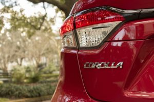Detail of the 2020 Toyota Corolla LE
