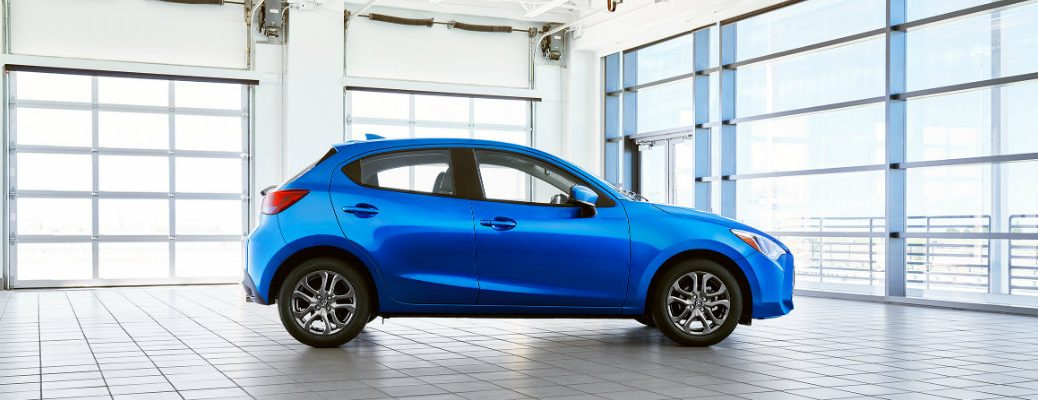 2020 Toyota Yaris in a room full of windows