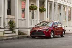 2020 Toyota Corolla parked downtown