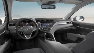 2019 Toyota Camry with an Ash Leather interior