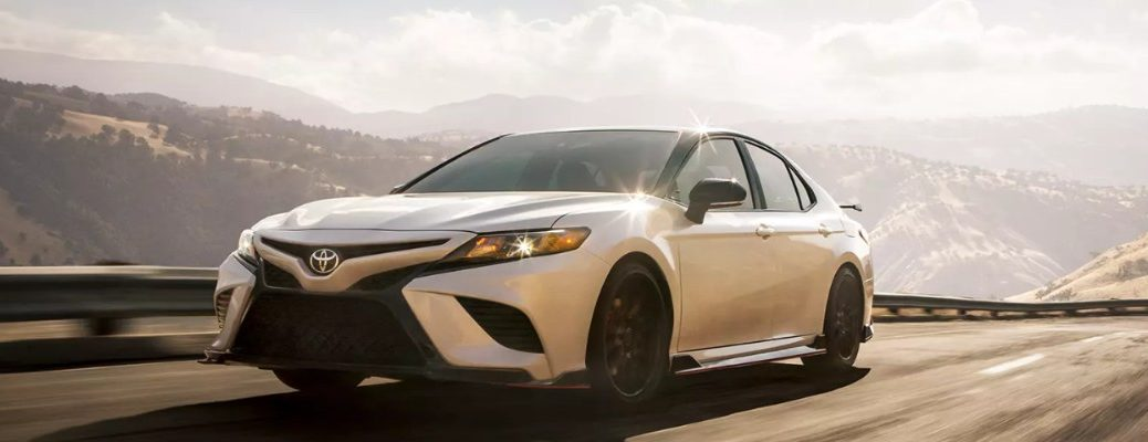 2020 Toyota Camry TRD driving fast