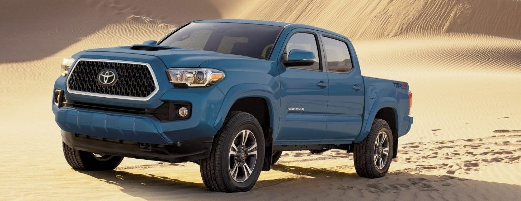 2019 Toyota Tacoma driving through the desert