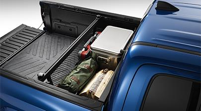Cargo bed divider in the 2019 Toyota Tacoma