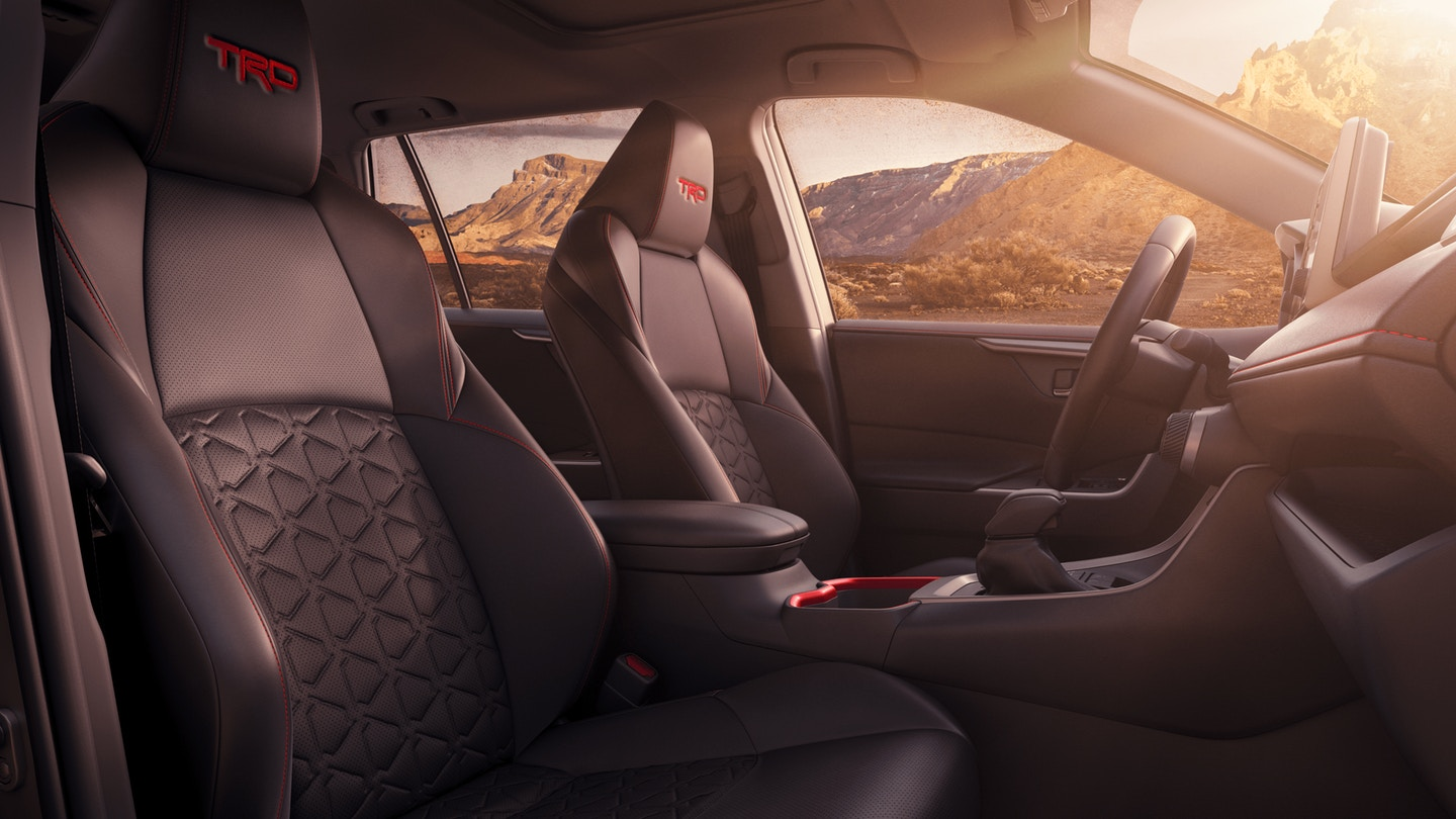 2020 RAV4 TRD Off-Road interior trim