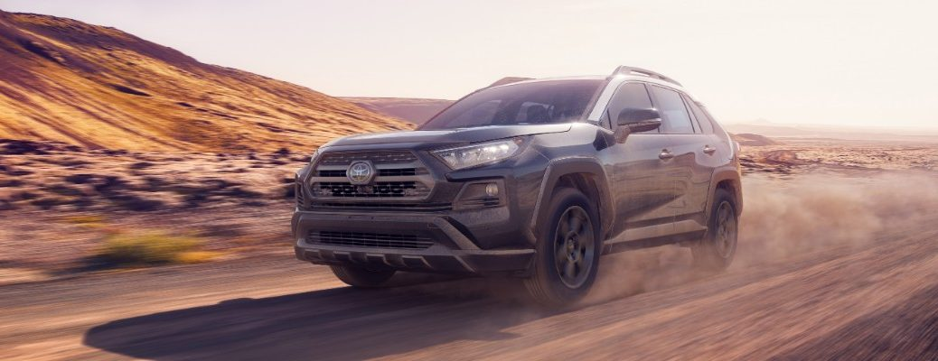 2020 Toyota RAV4 TRD Off-Road driving in the desert