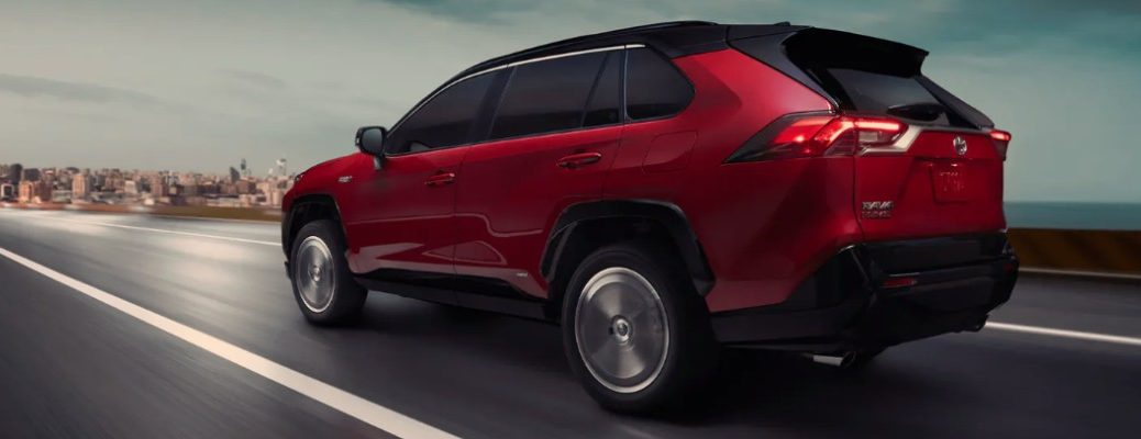 2021 Toyota RAV4 Prime Plug-in Hybrid driving on the highway