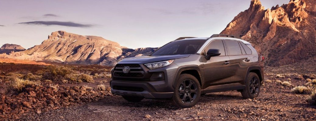 A 2020 Toyota RAV4 TRD Off-Road SUV parked in the desert