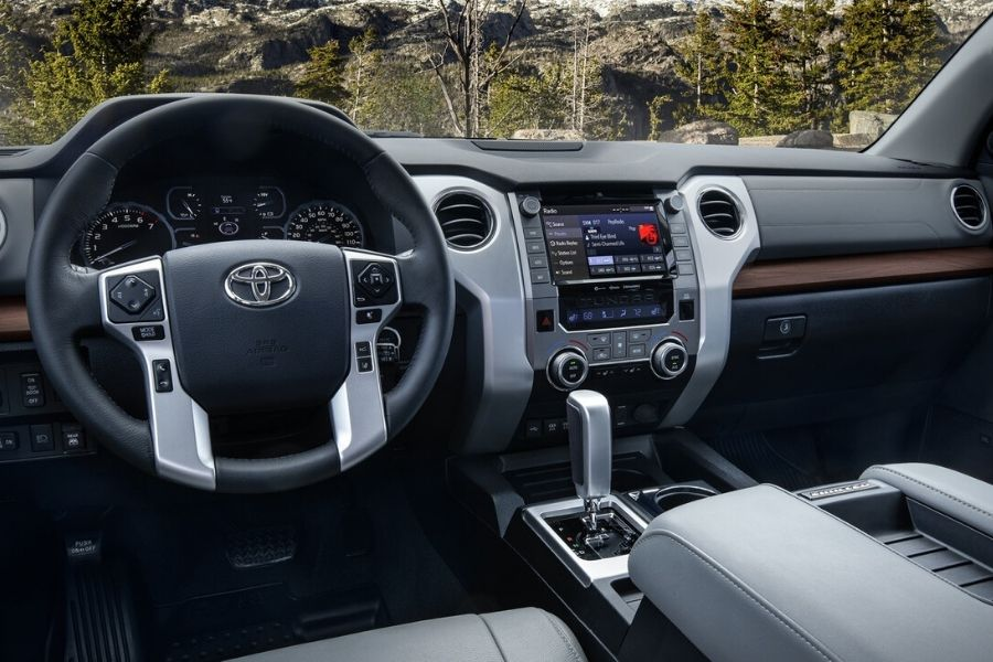 Interior front dash of the 2020 Toyota Tundra Limited CrewMax