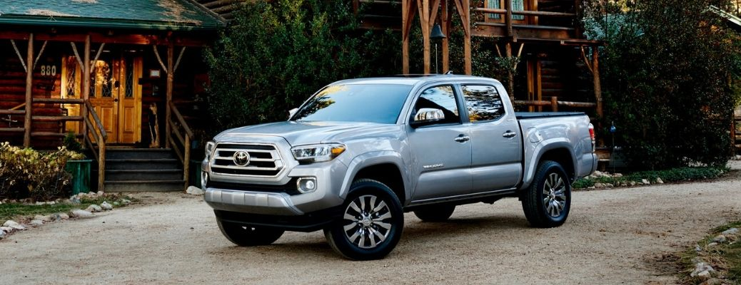 2020 Toyota Tacoma Limited Double Cab in front of cabin