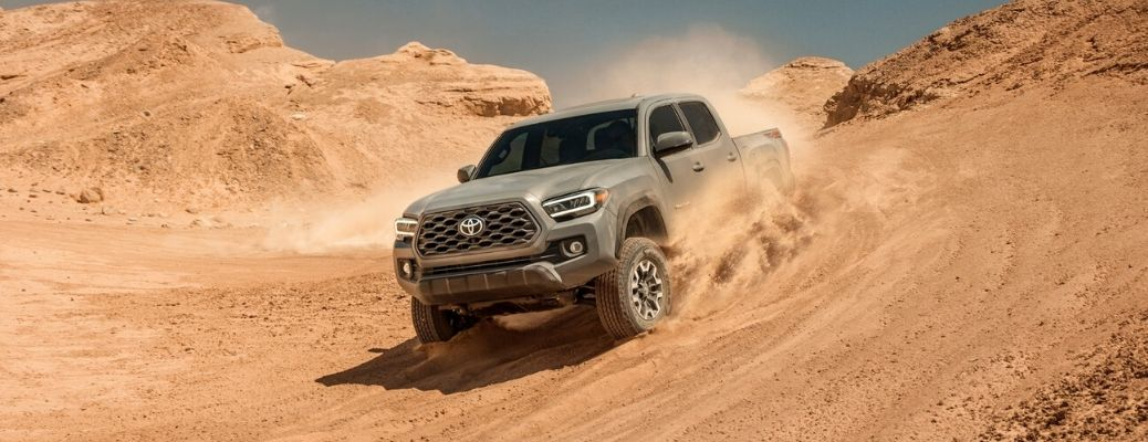 2020 Toyota Tacoma on sand hill