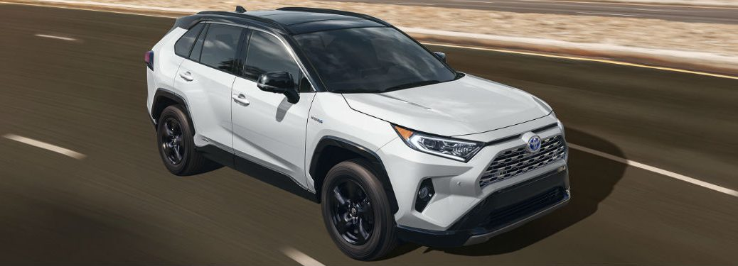 2020 Toyota RAV4 driving on a road