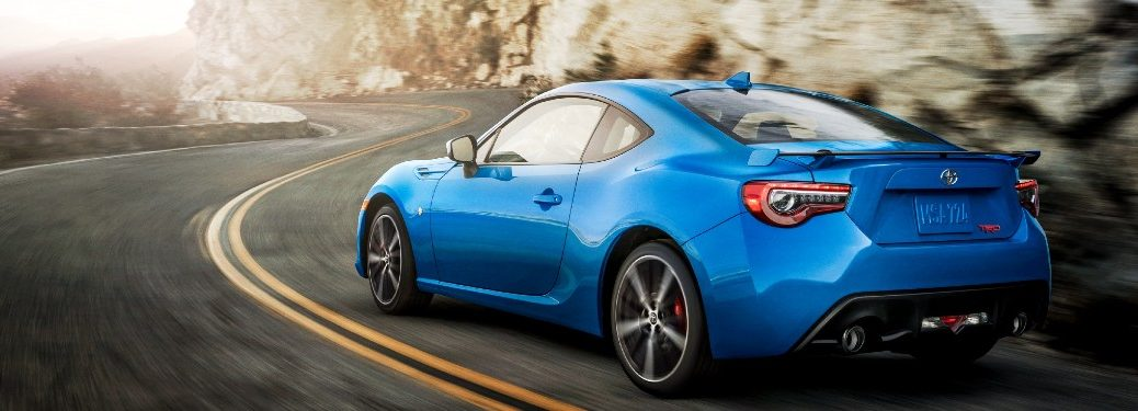 2020 Toyota 86 driving on a road