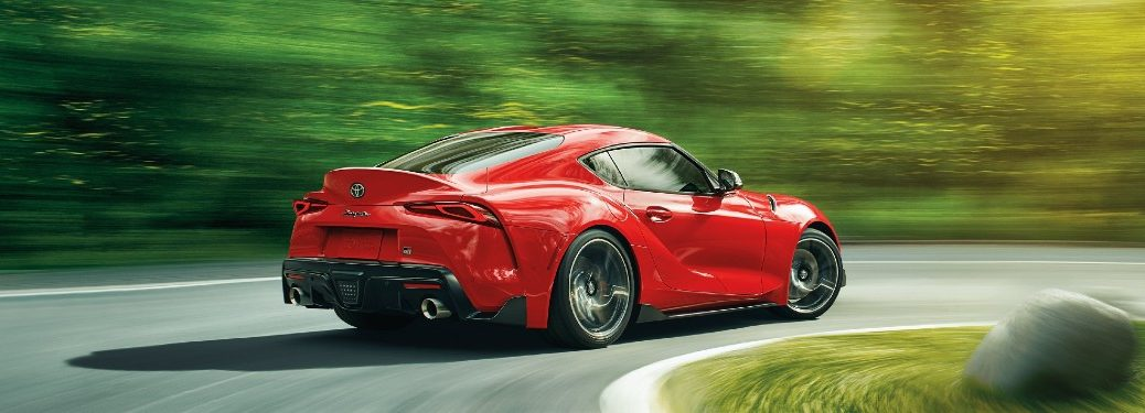 2021 Toyota GR Supra driving on a road