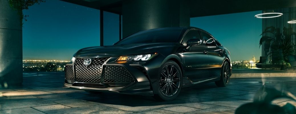 front and side view of the 2021 Toyota Avalon