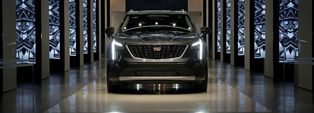 2019 Cadillac XT4 parked in a long showcase hallway