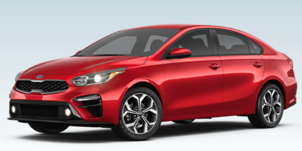 2019 Kia Forte in Currant Red