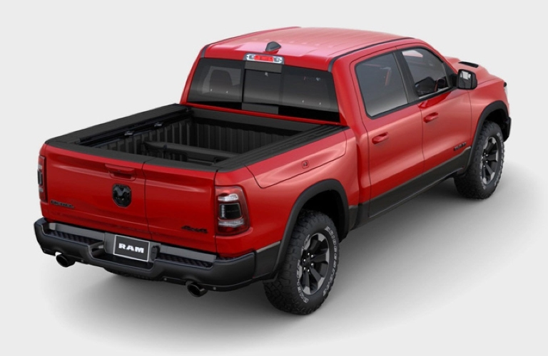 2020 RAM 1500 with tailgate closed