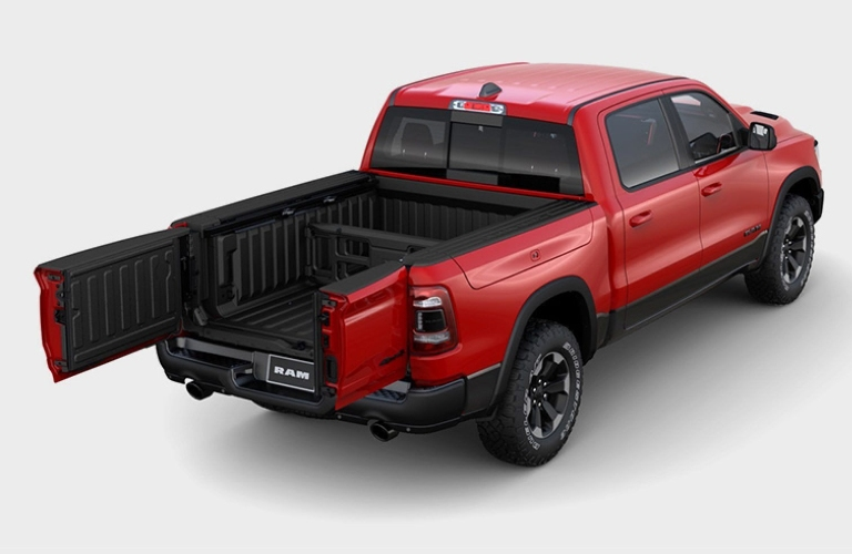 2020 RAM 1500 with tailgate open like doors