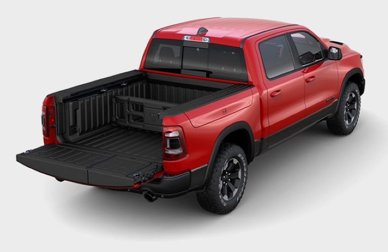 2020 RAM 1500 1500 with tailgate open the traditional way