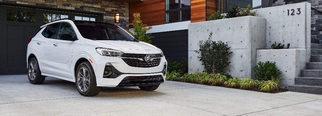 2020 Buick Encore GX parked in front of a house