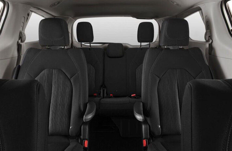 2020 Chrysler Voyager second and third rows of seats