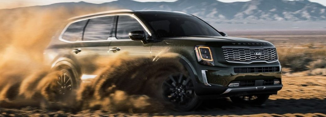 2020 Kia Telluride playing in the dirt