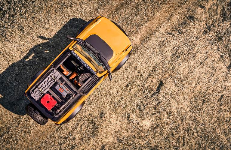 Bird's Eye View of the 2021 Ford Bronco