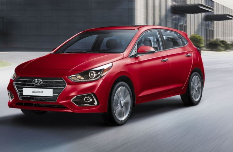 2020 Hyundai Accent on the side of the road