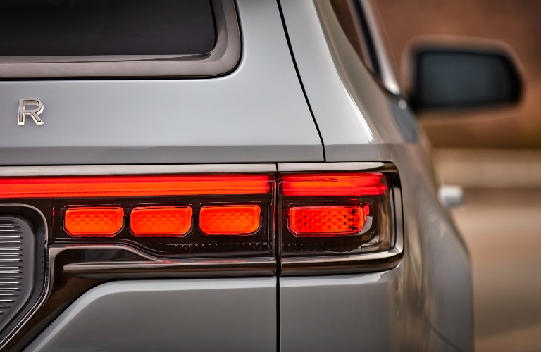 Close up of the taillight on the Jeep Wagoneer
