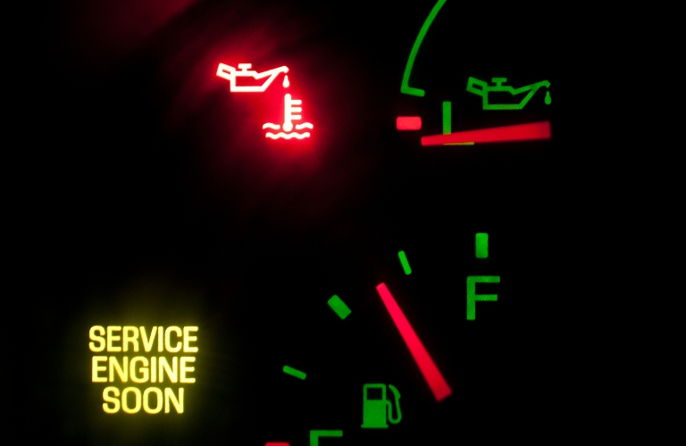 Oil Pressure and Service Engine soon light