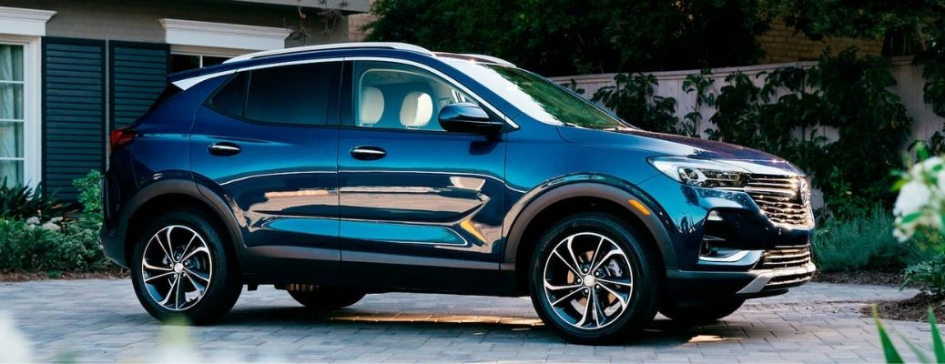 2021 Buick Encore GX parked outside a house