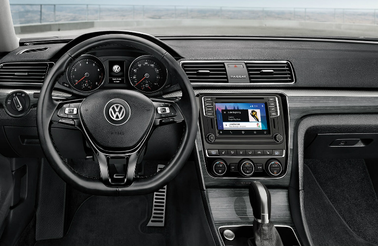 Steering Wheel, Gauges, and Touchscreen in 2019 VW Passat