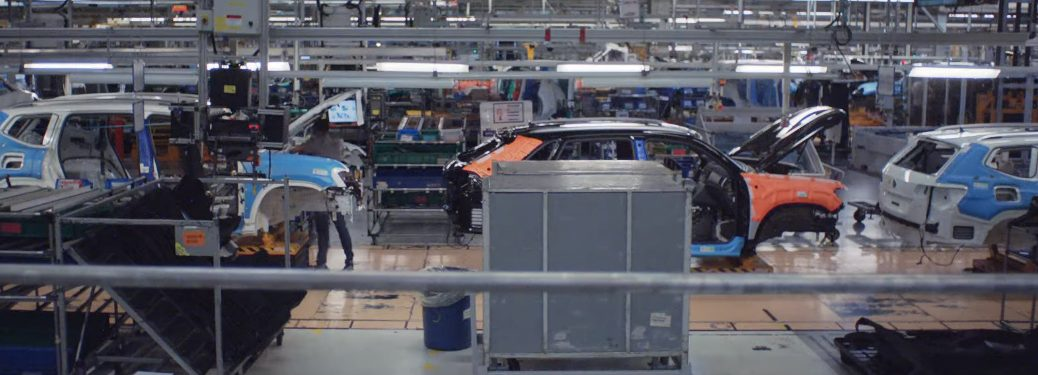 Volkswagen Atlas vehicles on the assembly line at the Volkswagen Chattanooga Plant