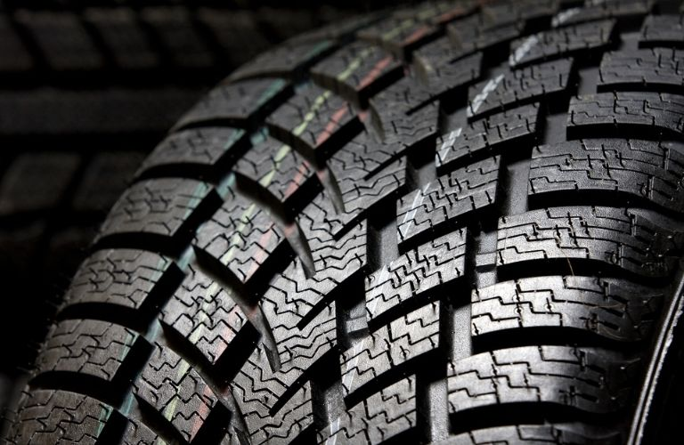 Close up of tire with dramatic lighting