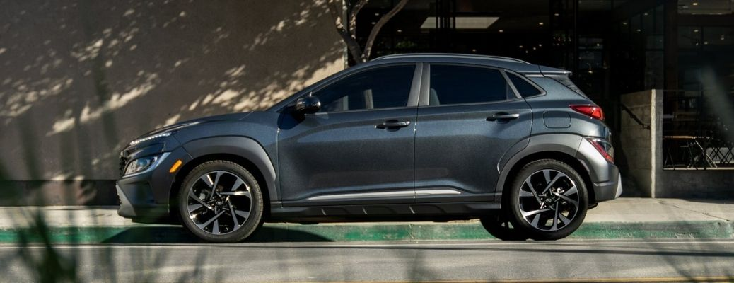 2022 Hyundai Kona parked on the side of the road